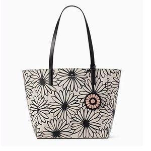 Kate Spade Rosa Daisy Medium PVC/Leather Tote NWT